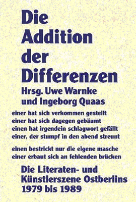 Die Addition der Differenzen (Cover)